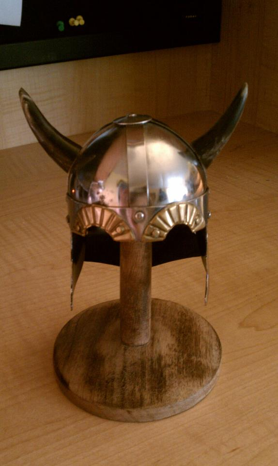 My adorable Viking helmet - a gift from my hubby.